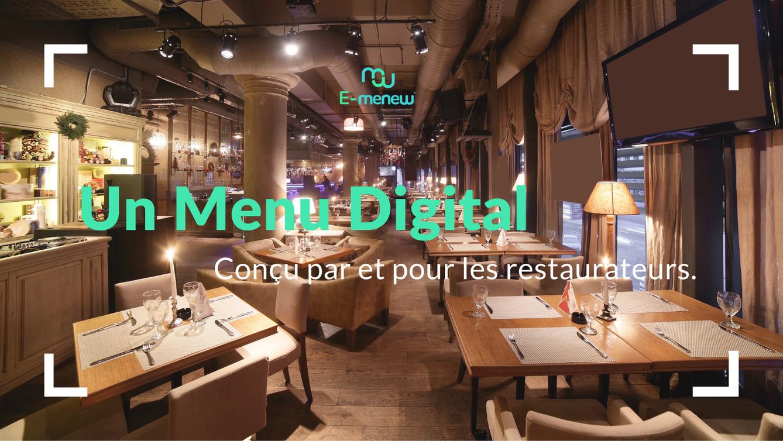 menu digital pour restaurateurs